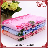 100% cotton cut pile bath terry cloth printing towel For Russia for hotel home beach