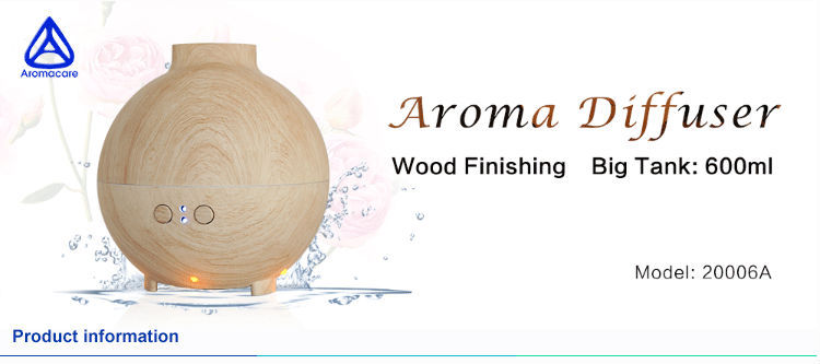 Wood Grain 600ml Humidifier Rechargeable Essential Oil Diffuser