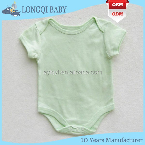 PF-MS-094 breathable soft cotton baby snap crotch bodysuits