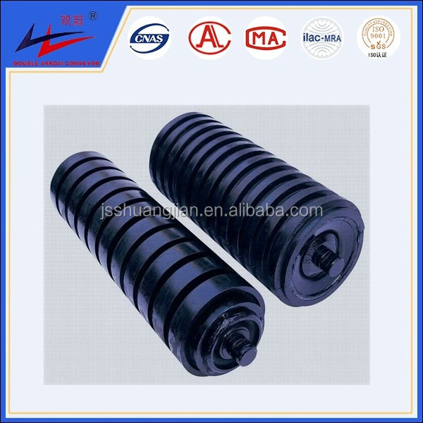 rubber rings coated conveyor impact roller,conveyor impact trough roller