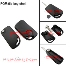 New products VW flip remote key blank with battery shell cover