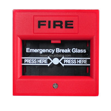 Fire Alarm System DC 24V Conventional Manual Call Point Pull Station Fire Alarm Button HS-SB106 break glass
