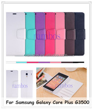 Book Style Folio Wallet Leather Case Cell Phone Cover for Samsung Galaxy Core Plus G3500 G3502 / S3 /S4/S4 mini i9190/ S5 mini