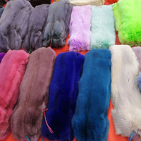 2019 Wholesale High Quality Colorful Raccoon Fur/fox fur Collar for Garment&Clothes&Denim Coat Fur Scarf
