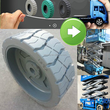 hot sale non marking grey off road wheel, aerial scissor lift wheel 15x5 for Genie, JLG, Skyjack and Haulotte
