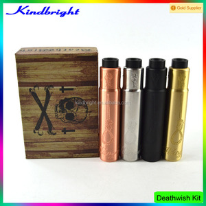 Four colors!!!2016 Kindbright china supplier Deathwish Mod Kit/crossbone Mod/deathwish mod kit 1:1Clone with factory price