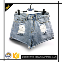 Girls sexy denim pants leisure wear denim jeans women short jeans