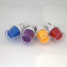 factory direct supply Rose flower shape usb car charger wholesale