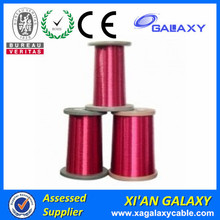 High voltage awg 30 gauge magnet wire flat colored enameled aluminum electrical wires