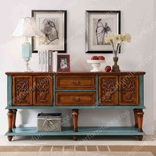 Antique console table livingroom furniture carved wood console tables