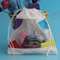 Mini Cute Custom Drawstring Cotton Jewelry Gift Bag Wholesale