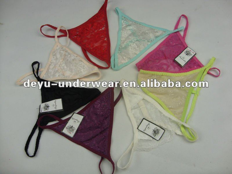 0.11USD Ladies Sexy Stock Cheap Lace France Sexy Girls In Thongs G Strings (kcnk025)