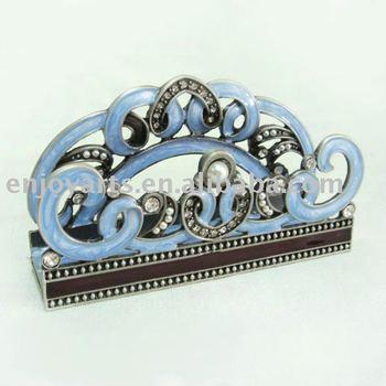 business holder jeweled vintage card