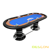 "96""x42"" Professional Gamblers Pedestal Poker Tables Blue"