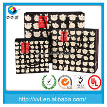 2014 sample free package manufacturer customized waxed paper gift bags and boxes
