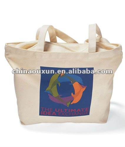 canvas tote bags with zipper closure