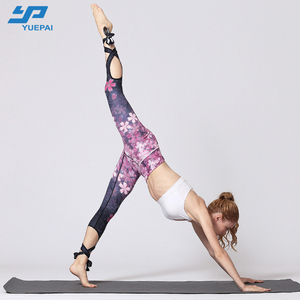 Guangzhou factory wholesale custom printed sports yoga leggings for women