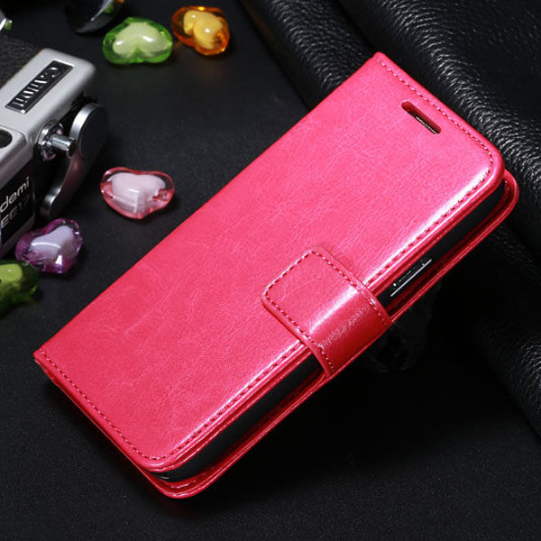 Hot Galaxy S4 Belt Clip Side Open Cover PU Leather Case For Samsung MINI i9190 Stand Design HLC0095