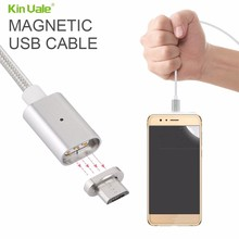 portable magnetic charging networking cable , magnetic micro usb cable nylon braided
