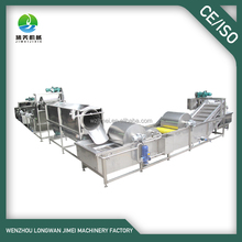 Full automatic stainless steel high efficient fruit and vegetable washing line