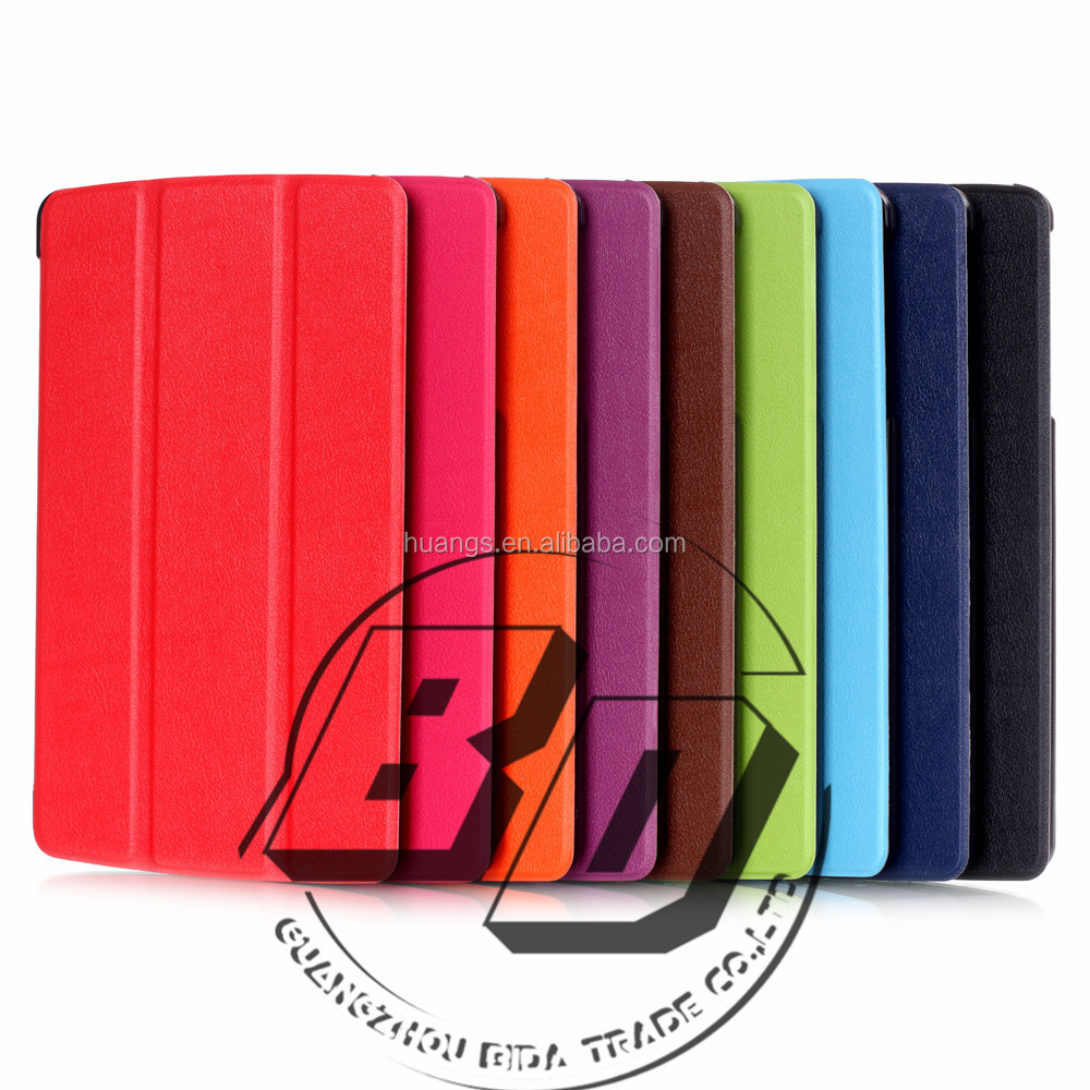 Wholesale Popular Three Folding Smart PU Leather Tablet Cover Case For LG G PAD 2 8.0 V498 fast delivery