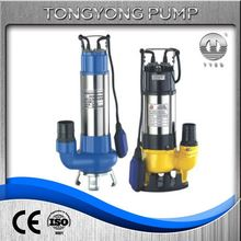 bwq 5.5kw submersible electric sewage pump pumping with float switch waste water treatment pumps