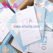 A0927 Wholesale Funny Blue Color Box Playing Card