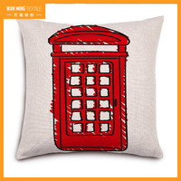 Factory Direct sales printed bath tap pillow square linen home decor pillow covers