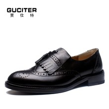 Italy manufacturing process handmade custom genuin leather men's shoe Loafer tassels Slip-On Set foot shoes prevalent Trend shoe