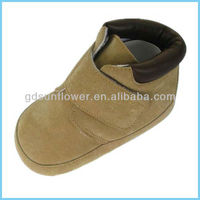 Brown wide strap trainer baby shoes 15-S24