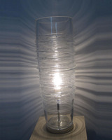 Tall glass tower table lamp,blown glass lamp