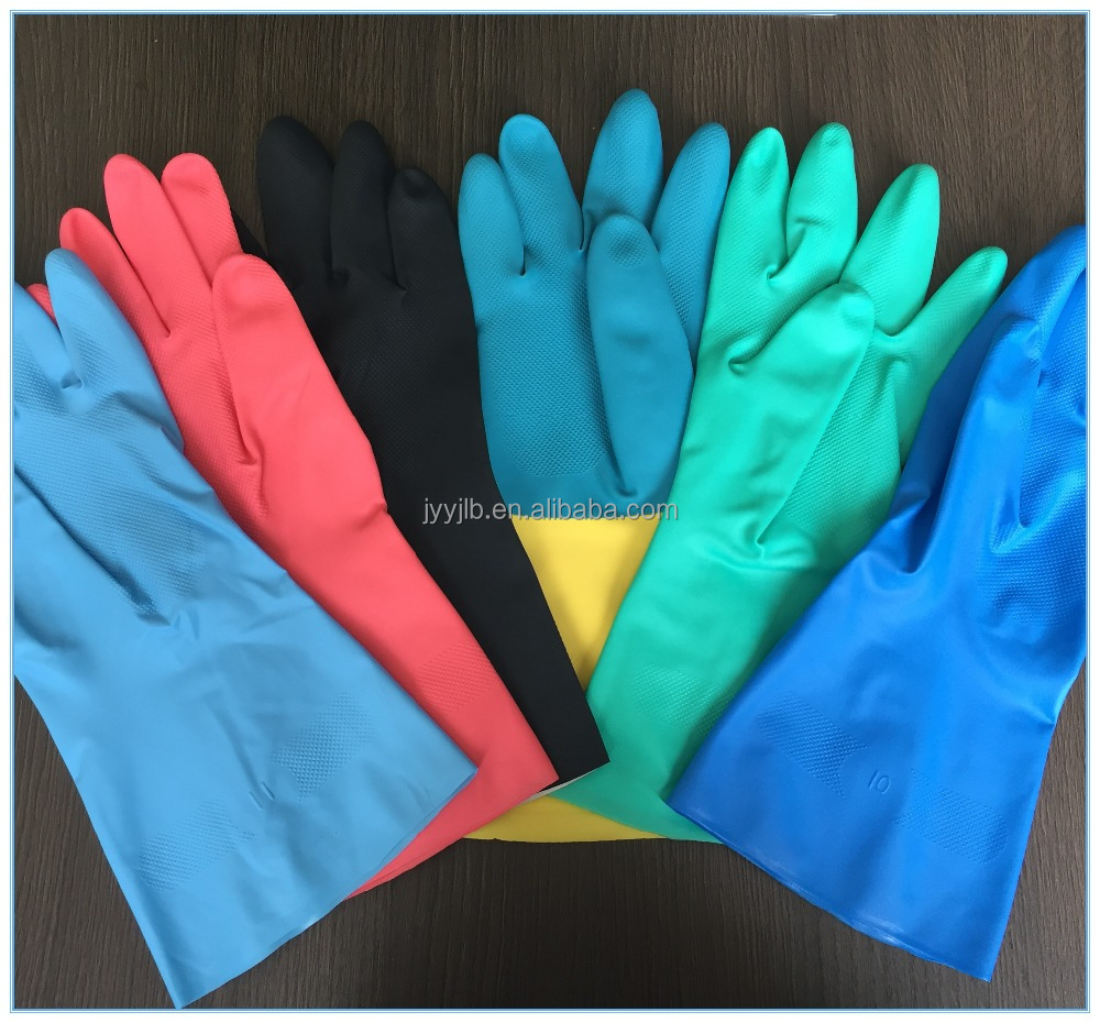 Gas Sation Anti-Oil Good Air Tightness Nitrile Work Gloves