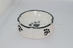 Dog foot Printed Stainless Steel Pet Bowl