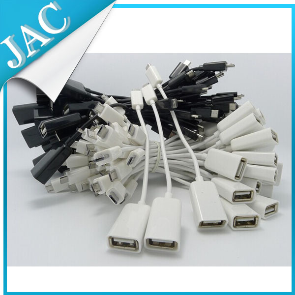 OTG for i9300 white Manufacture Directly Sell New Micro USB OTG Cable Adapter