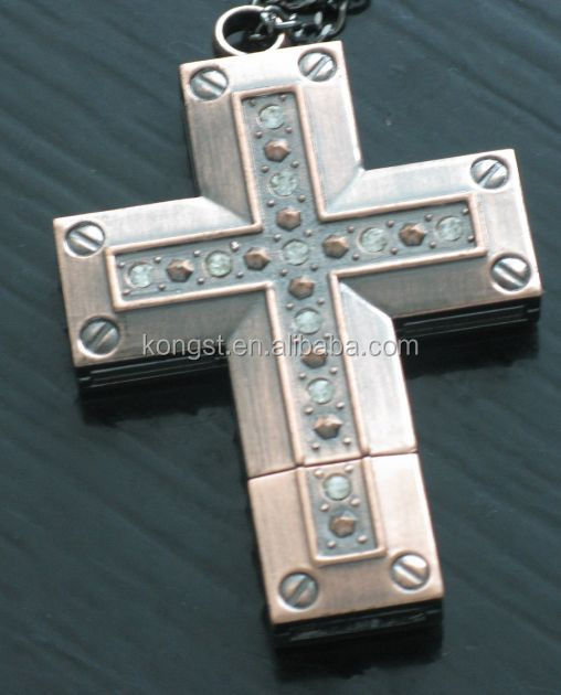 OEM design cross shape metal usb pendrive with factory price made in china