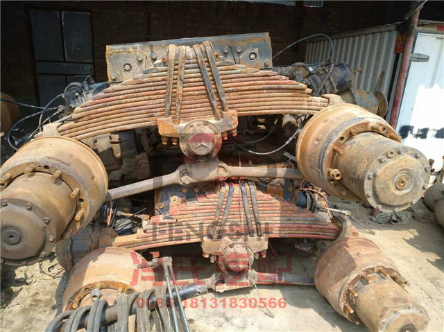 HOT sale CHINA BEZ AXLE USED AXLES USED BOGIES USED ACTROS AXLE ASSEMBLY second hand LEAF SPRINGS at stock for option
