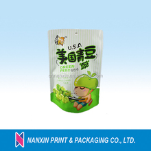 New style stand up pouch for packing beans