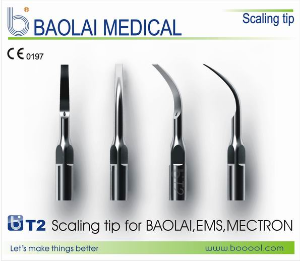 Baolai Stainless Steel Ultrasonic Scaler Tip T2 For Scaling