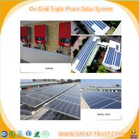 New 2017 low cost 5kw grid tie home solar system 3kw pv solar power syste with CE certificate