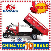 Popular 3 wheel cargo tricycle three wheel motorcycle india with Dumper
