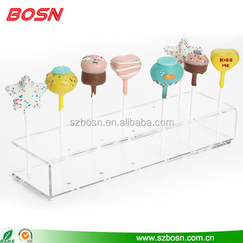 manufactory acrylic transparent lollipop candy stand display rack wholesale