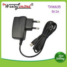 EU common 6w shapely adapter with cable and AC90V-240V 47-63Hz