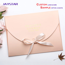 Customized size and logo gift card paper envelope