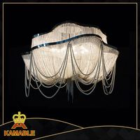 Chain Chandelier Silver steel Modern Large Lighting For Hotel