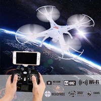 Germany Warehouse Direct Shipment Explorers FPV 2.4Ghz Wifi 6-Axis 4-Channel Gyro RC Headless Quadcopter Wifi 2MP Camera