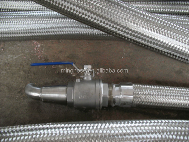 Metal bellow pipe stainless steel flange joint braided flexible water hose