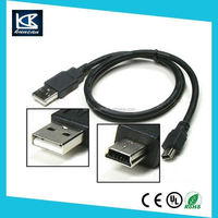 New flat mini micro braided usb cable for mobile phone