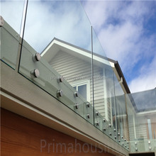plexiglass railing frameless glass terrace railings designs