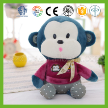 Best custom blue soft plush small stuffed monkey for children