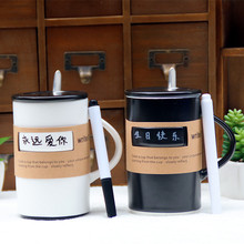 Creative <strong>black</strong> and white message can write ceramic cup